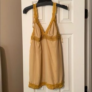 Yellow tank dress